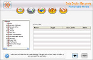 Removable media data recovery software screenshot